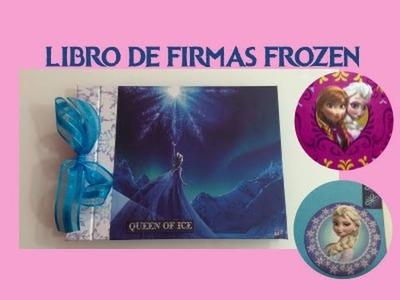 DIY libro de firmas Frozen guest book frozen