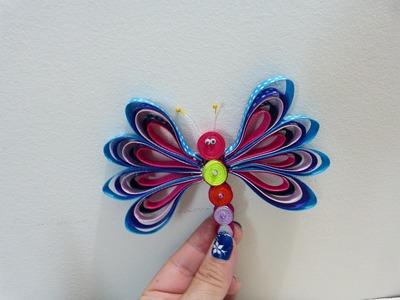 Mariposas  y gusanitos en cinta gross o raso para decorar accesorios del cabello