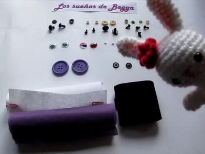 Materiales: Tipos de ojos para amigurumis, muñecos de fieltro, de trapo, peluches