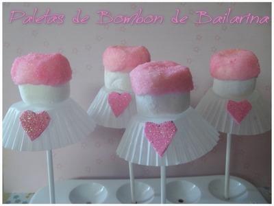 Paletas de Bombon de Bailarina.