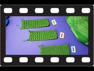 Puntada 3 Medios Puntos Juntos #Crochet #Ganchillo #Diy tres opciones