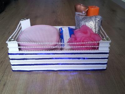 Reciclar caja y hacer un organizador de cosméticos | facilisimo.com