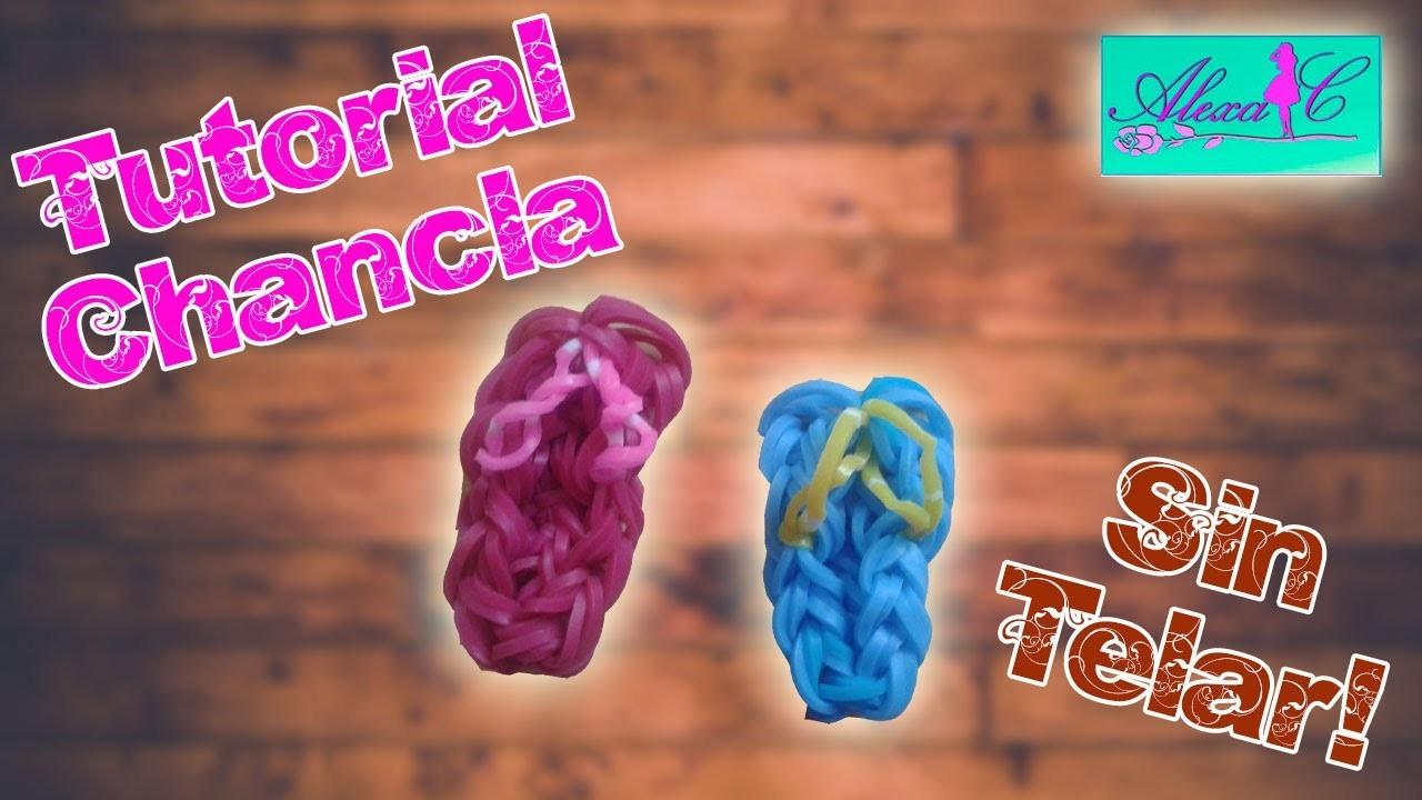 ♥ Tutorial: Chanclas de gomitas (sin telar) ♥