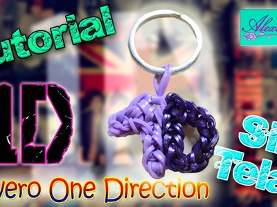 "♥ Tutorial: Llavero One Direction ""1D"" de gomitas (sin telar) ♥"