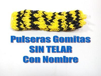 TUTORIAL PULSERA DE GOMITAS CON NOMBRE SIN TELAR.KEVIN.MANILLA CON GOMAS ELÁSTICAS NOMBRE KEVIN