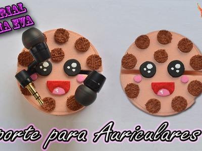 ♥ Tutorial: Soporte para Auriculares. Cables de Goma Eva (Foamy) ♥