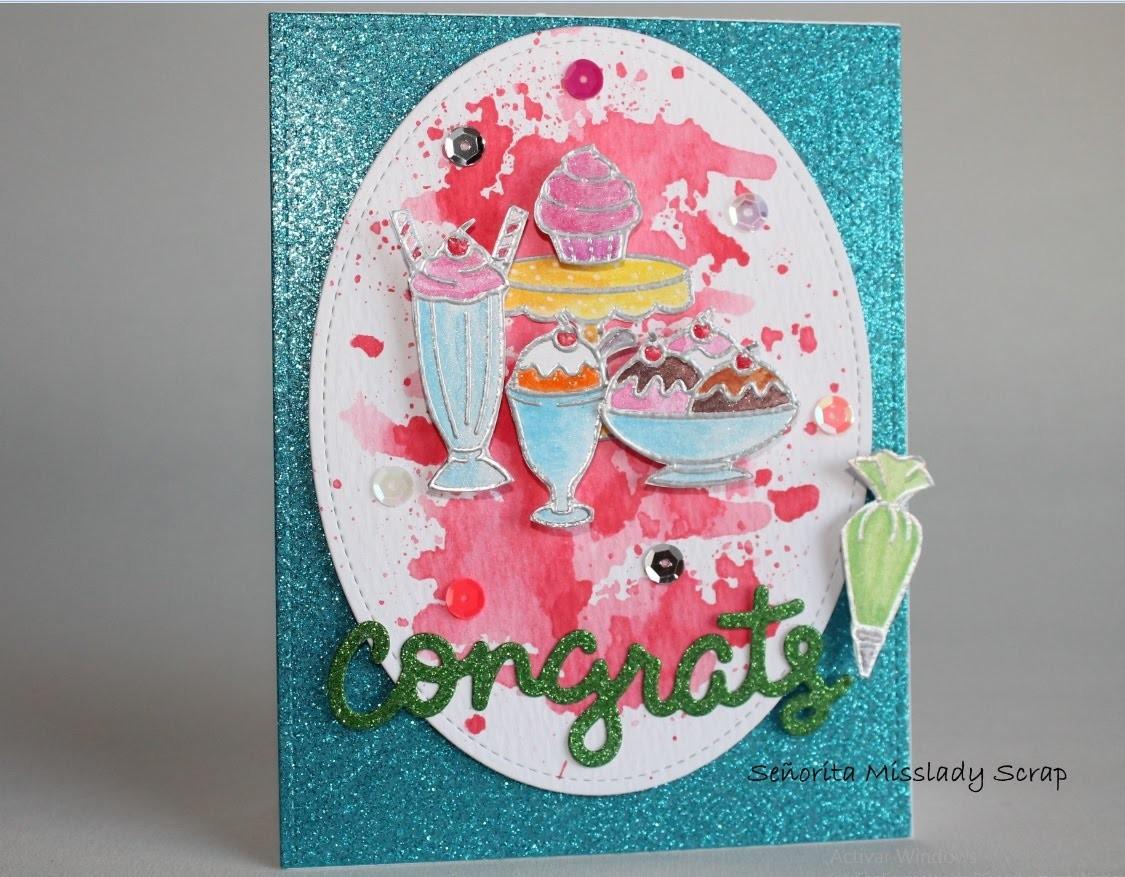 "#2. Scrap & manualidades. ""Sparkling icecream"" card"