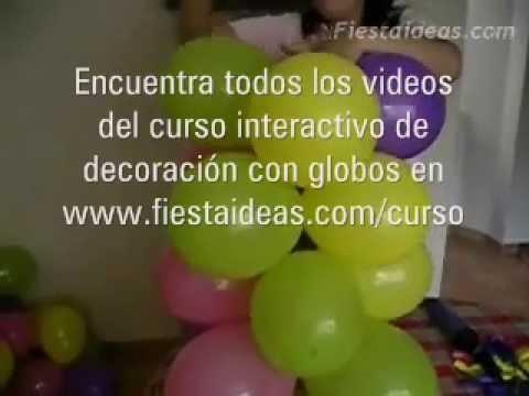 Arco de globos - Curso de decoración con globos