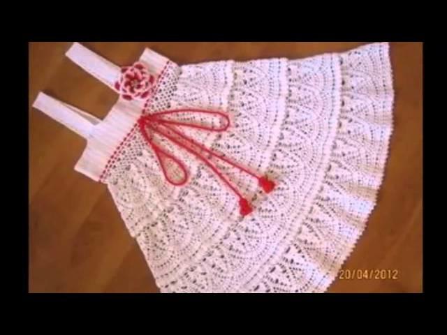 Bonitos vestidos de verano a crochet para niñas pequeñas