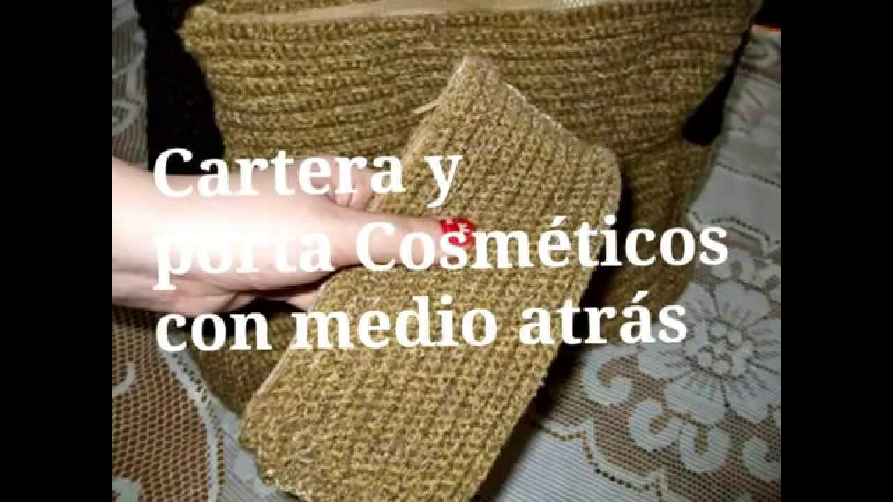 Cartera Crochet combinada con Cuero