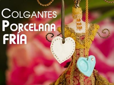 Colgantes de Porcelana Fria, Huellas de Amor y Corazon
