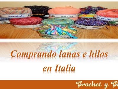 Comprando lanas e hilos en Italia