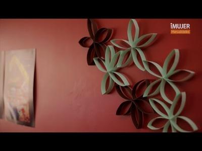 Decora tu pared con flores de cartón | @iMujerHogar