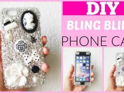 "DIY: Decora tu funda iphone 6 con cristales.""DIY bling bling white and black iphone 6 case"""