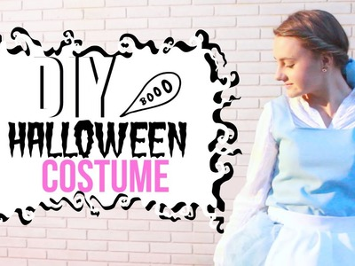 DIY Halloween Costume! Belle Beauty and the Beast Costume, Makeup & Hairstyle | Lorena Calvo