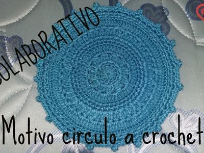 MOTIVO CIRCULAR A CROCHET, COLABORATIVO DIY INSPIRATION