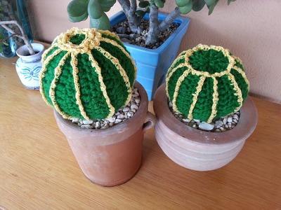 Tutorial crochet.ganchillo, cactus bola.