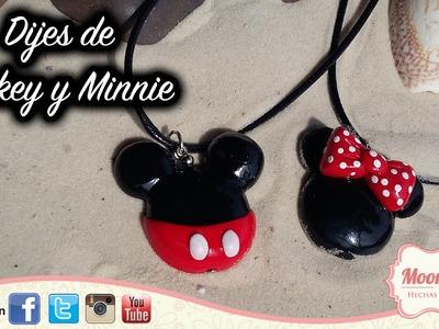 Tutorial Mickey y Minnie de Arcilla Polimerica FÁCIL. Polymer Clay Mickey and Minnie EASY