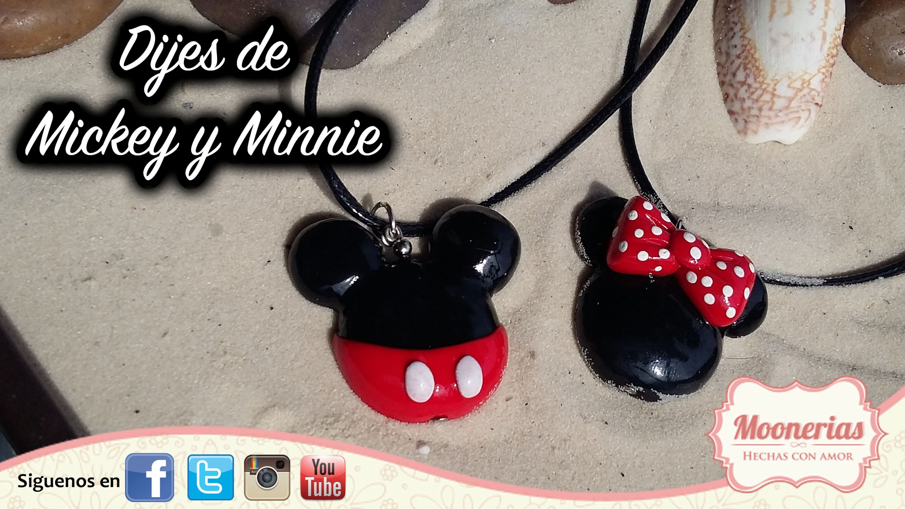Tutorial Mickey y Minnie de Arcilla Polimerica FÁCIL. Polymer Clay Mickey and Minnie EASY