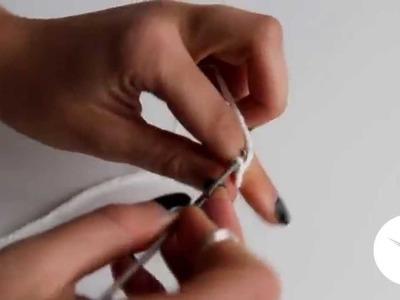 Tutorial:  Mini-Pompón   Borlón   Cadeneta-Crochet ❤