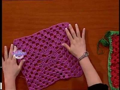 Verónica Muniagurria - Bienvenidas TV - Teje en Crochet un Poncho Primaveral.
