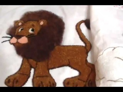 Bordado Fantasía León Terminado