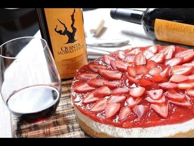 Cheesecake de queso con fresas sin hornear - Pay de fresas sin horno - Unbaked strawberry cheesecake