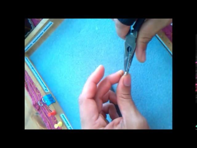 Como Abrir y Cerrar Anillas para Hacer Artesanías