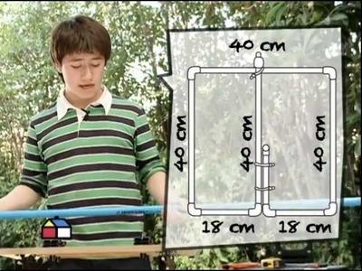 ¿Cómo construir una ducha para jugar con tubos de PVC?
