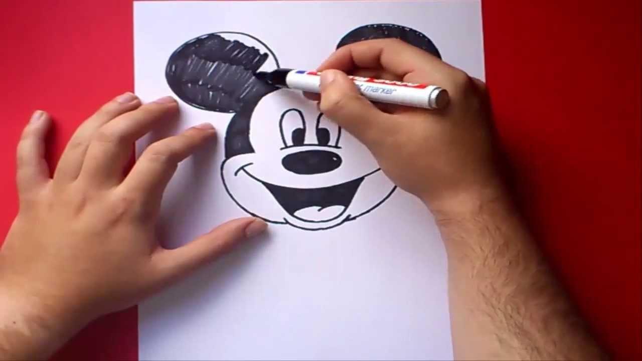 Como dibujar a Mickey Mouse paso a paso - Disney | How to draw Mickey Mouse - Disney