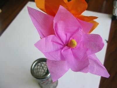Cómo hacer flores de papel crepe (Fácil) - Manualidades para todos