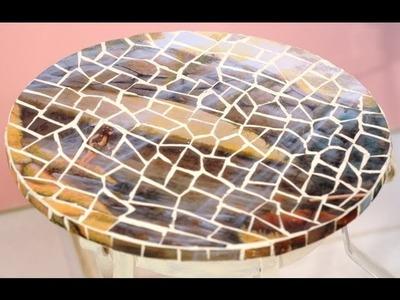 Como hacer imitacion trencadis - Acetato y adhesivo multiproposito - Lidia Gonzalez Varela