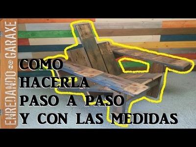 Como hacer la silla de patio Adirondack con madera de palet. Pallet Adirondack chair