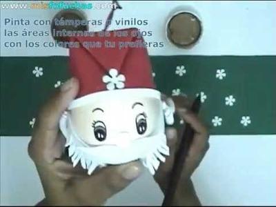 Cómo hacer los ojitos de Papá Noel o Santa Claus para decorar el árbol de navidad Parte 2