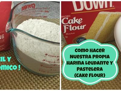 Como Hacer Nuestras Propias Harinas Leudante y Pastelera Facil - Madelin's Cakes