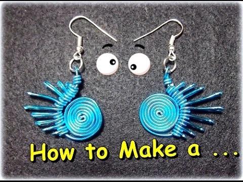 Como Hacer Pendientes en alambre(2).How to Make a Wire Pendant (2). By Puntoy Alambre