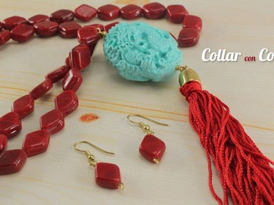 Como hacer un Collar Coral Dragon Kit 23076
