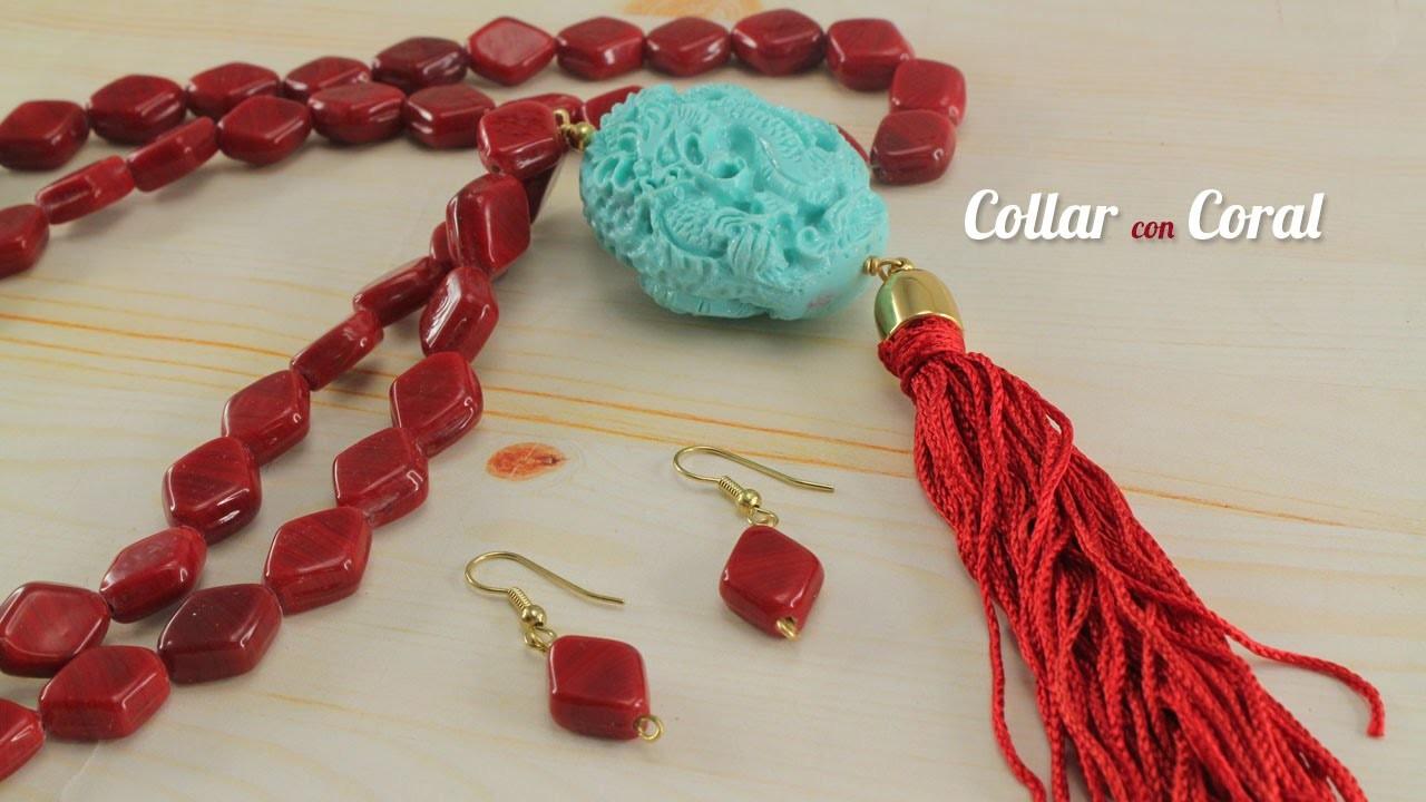 Como hacer un Collar Coral Dragon Kit 23076