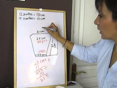 Cómo hacer un patrón para mangas con dos agujas