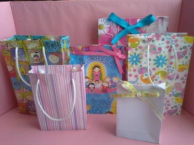 Como hacer una bolsa de papel para regalo