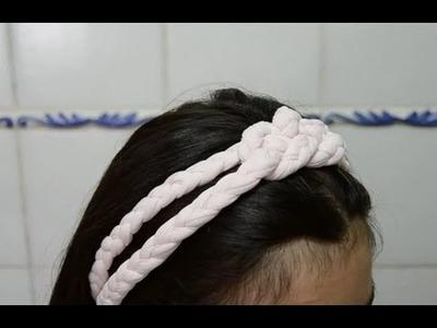 Cómo hacer una diadema de trapillo con nudo | facilisimo.com