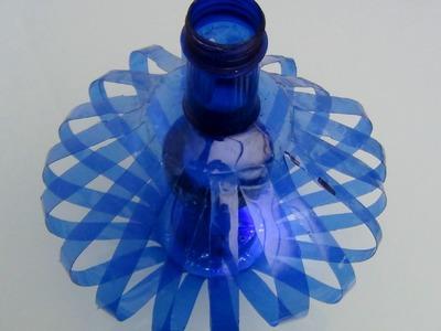 Cómo hacer una lámpara reciclando botellas de plástico - How to recycle plastic bottles