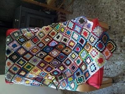 Cómo hacer una manta de lana a ganchillo muy fácil