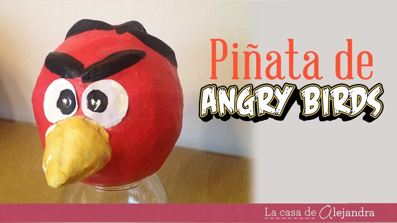 Cómo hacer una piñata de Angry Birds - How to make a Angry Birds piñata