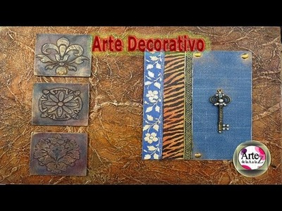 Cómo imitar cuero, tela de  jean,  animal print y metal en arte decorativo