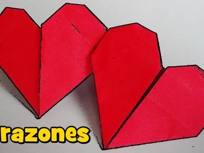 Corazón Doble con una Hoja de Papel - Origami