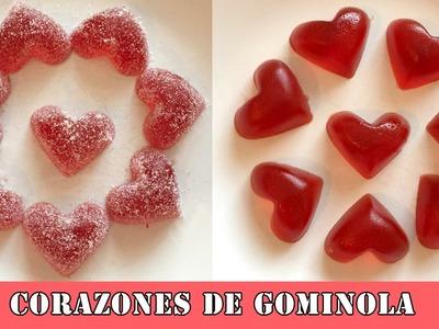 Corazones de gelatina: Regalo de San Valentín