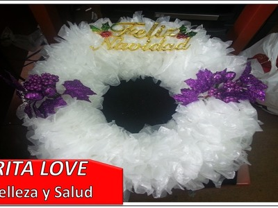 Corona de navidad con materiales reciclados - Ekirita Love.