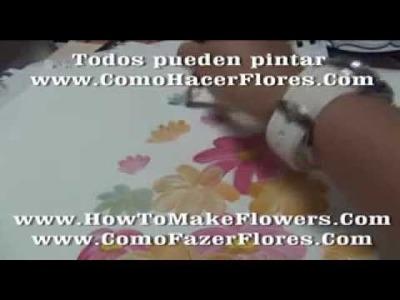 Cuadros modernos manualidades con pintura decorativa de pinceladas