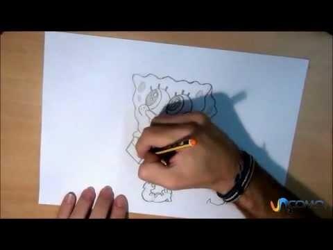 Dibujar a Bob Esponja - How to draw SpongeBob SquarePants